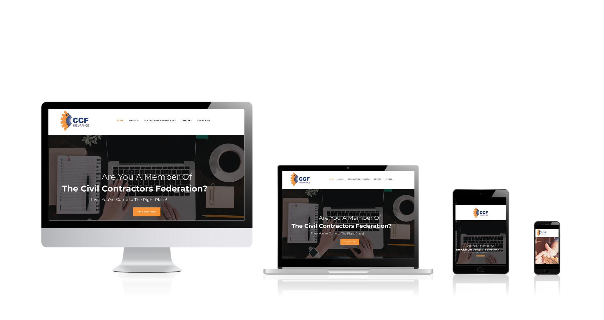 Website design Melbourne CCF Insurance- Sanctuary Labs